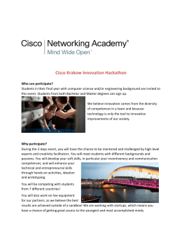 Cisco Krakow Innovation Hackathon