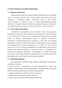 opis techniczny Wilga 2015 - Małopolski Zarząd Melioracji i