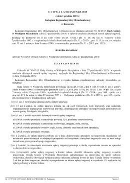 Uchwała nr XXIV/5465/2015