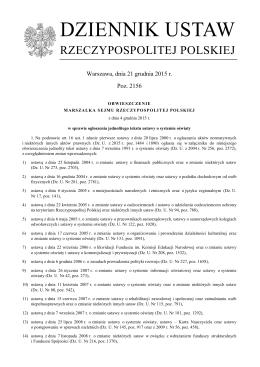 Dz. U. z 2015 r. poz. 2156 - Kuratorium Oświaty w Poznaniu