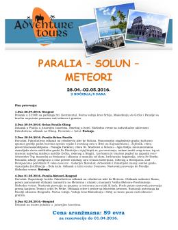 Solun,Paralija,Meteori 2 noćenja