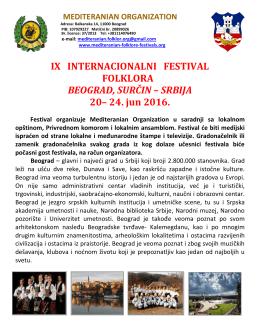 Beograd-Surčin - Mediteranian organization