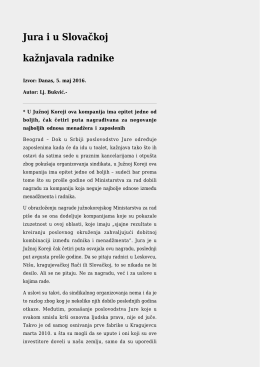 Jura i u Slovačkoj kažnjavala radnike
