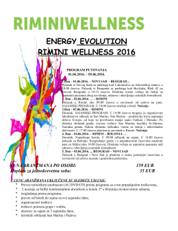 ENERGY EVOLUTION RIMINI WELLNESS 2016