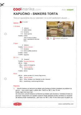 kapuæino - snikers torta