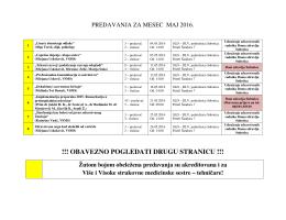 Maj 2016. - Udruženje Zdravstvenih Radnika Doma Zdravlja Subotica
