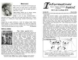 BROJ 651 (2. do 8. svibnja 2016.) - Župa sv. Fabijana i Sebastijana