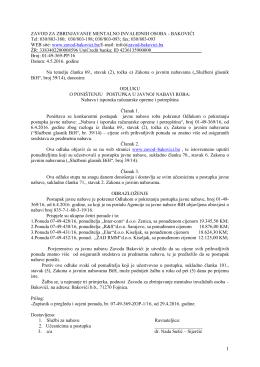 Odluka o poništenju broj 1-49-369-PP/16 od 4.5.2016.