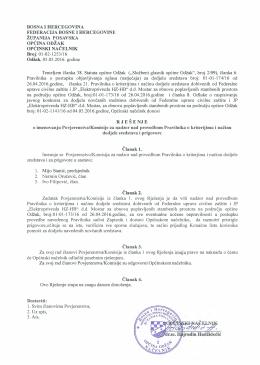 Rješenje o imenovanju Povjerenstva/Komisije za
