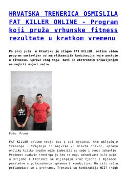 Program koji pruža vrhunske fitness rezultate u kratkom