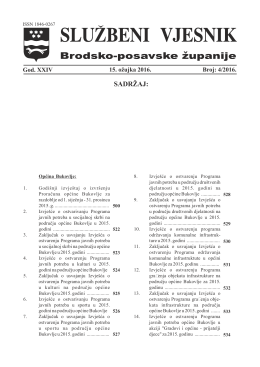 Službeni vjesnik 04. 2016. - Brodsko