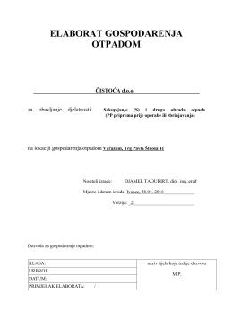 21b EGO CISTOCA- izmjene i dopune