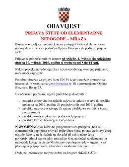 obavijest - Breznica