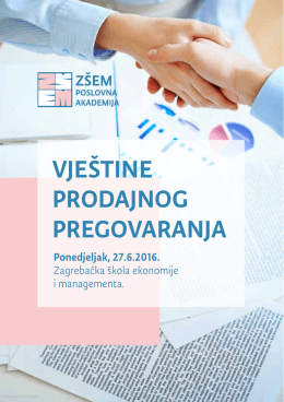 brošura - ZSEM poslovna akademija - Zagrebačka škola ekonomije i