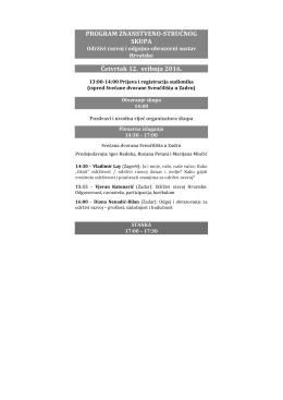 Program - Sveučilište u Zadru