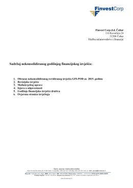 Godišnji izvještaj 1Y., revidirano, nekonsolidirano, 2015. godina PDF