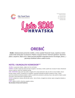 orebić - CITY TRAVEL TOURS