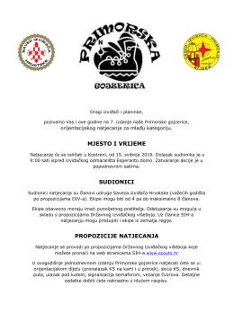 primorska gojzerica 2016 raspis