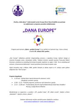 """Program pod nazivom """"Djeca - građani Europe""""(16050481612530"""