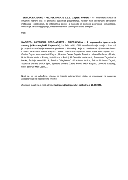 TERMOINŽENJERING-PROJEKTIRANJE traži dva magistra