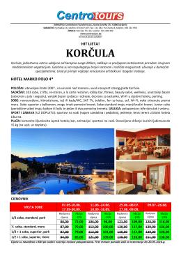 Korčula - Centrotours