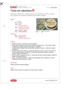 Torta od rabarbare