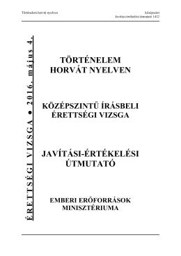 történelem horvát nyelven javítási