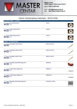 Cjenik instalacijskog materijala