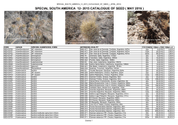 special south america 12- 2015 catalogue of seed ( may 2016 )