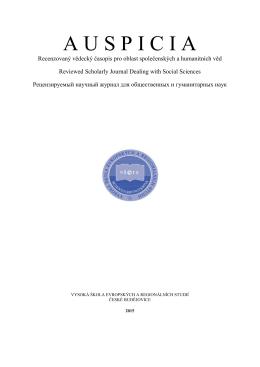Číslo 3,4 - Vysoká škola evropských a regionálních studií, o.p.s.