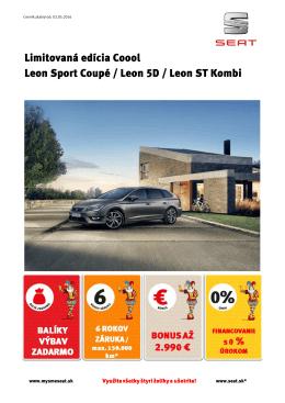 Limitovaná edícia Coool Leon Sport Coupé / Leon 5D / Leon