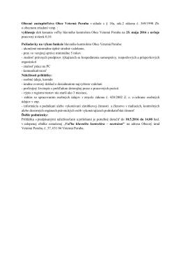 Obecné zastupiteľstvo Obce Veterná Poruba v súlade s § 18a, ods.2