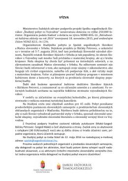 Čítať ďalej… - Spolok segedínskych Slovákov