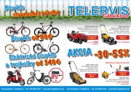 Bicykle slovenskej výroby Bicykle od 99€ Elektrické bicykle a