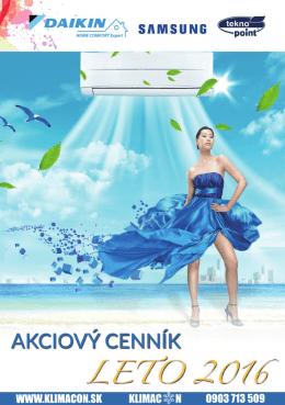 Cenník - Klimacon.sk