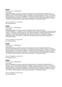 R105383 Spisová znaćka: 36CbR/300/2015 Sro 22 369/B