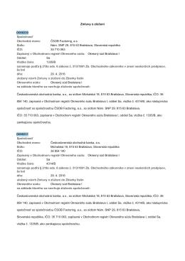 Nám. SNP 29, 815 63 Bratislava, Slovenská