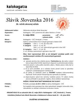 Slávik Slovenska 2016