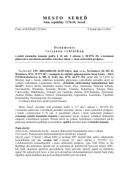 mestosere ď - Sereď Online