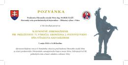 pozvánka - Slovenský zväz protifašistických bojovníkov