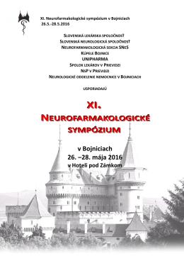 neurofarmakologické sympózium