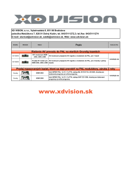 ponuka GSS sk - XD VISION, sro