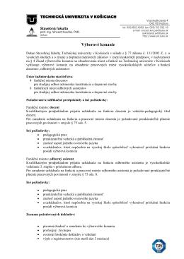 docenti a odborní asistenti na ÚIS SvF