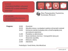 Program - Úrad priemyselného vlastníctva Slovenskej republiky