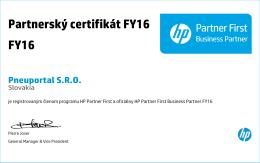 Partnerský certifikát FY16 FY16