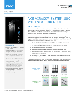VCE VxRack™ System 1000 with Neutrino Nodes
