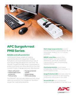 APC SurgeArrest PM8 S i PM8 Series