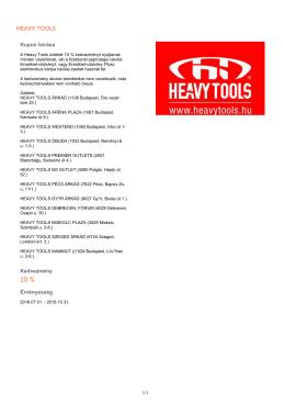 heavy tools - Erzsébet