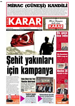 03 Mayıs 2016 - Kesin Karar Gazetesi
