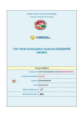 eskişehir - Türkiye Atletizm Federasyonu